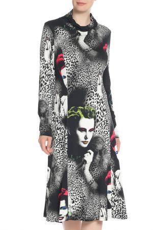 Приталенное платье с принтом Tuzzi. Цвет: мультиколор