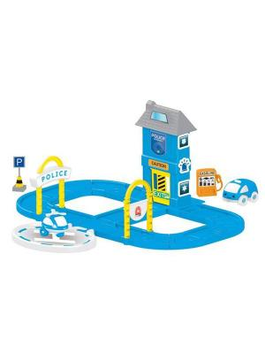 Игровой набор полицейская станция с круговой дорогой Dolu.. Цвет: синий