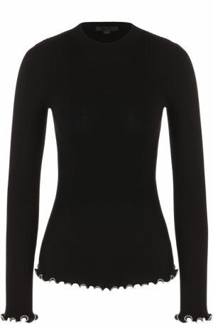 Пуловер фактурной вязки с декоративной отделкой Alexander Wang. Цвет: черный
