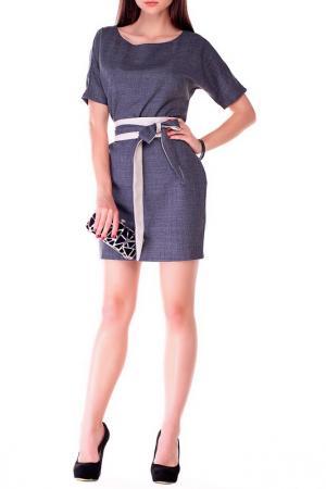 Платье MAURINI. Цвет: графитовый, бежевый
