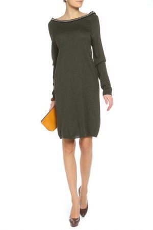 Платье BE…TWEEN. Цвет: темно-зеленый