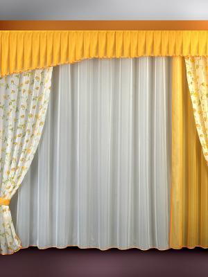 Комплект штор ZLATA KORUNKA. Цвет: горчичный