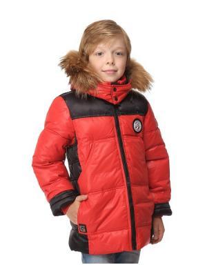 Куртка для мальчиков TOPKLAER. Цвет: красный, черный