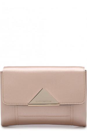 Текстильный клатч на цепочке Emporio Armani. Цвет: розовый