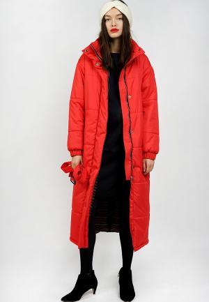 Куртка утепленная BURLO. Цвет: красный