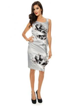 Коктейльное платье. Цвет: серебристо-серый
