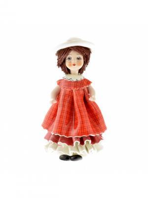 Статуэтка Кукла в шляпке Zampiva. Цвет: красный, белый