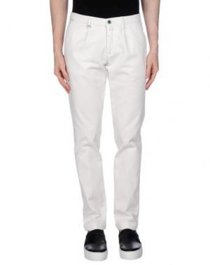 Повседневные брюки BARBATI. Цвет: белый
