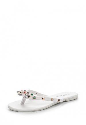 Шлепанцы Mellisa. Цвет: белый