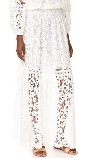 Длинная юбка Temptation Positano. Цвет: белый