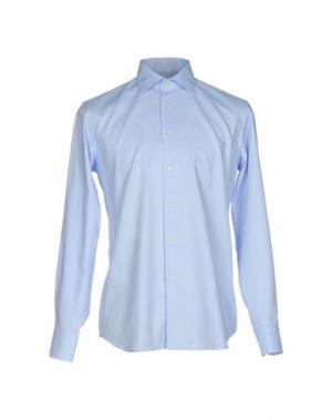 Pубашка ZANETTI. Цвет: лазурный