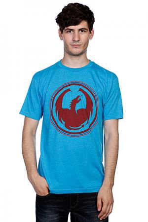 Футболка  Icon High Mark Turquoise Heather Dragon. Цвет: голубой