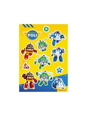 Робокар Поли: друзья DECORETTO. Цвет: желтый, синий, зеленый, красный, оранжевый