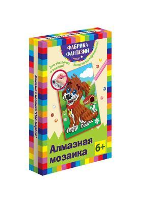 Алмазная мозаика Пес-барбос, размер 10х15 см Фабрика Фантазий. Цвет: черный, синий, лазурный, зеленый, светло-зеленый, коричневый, красный, желтый, белый