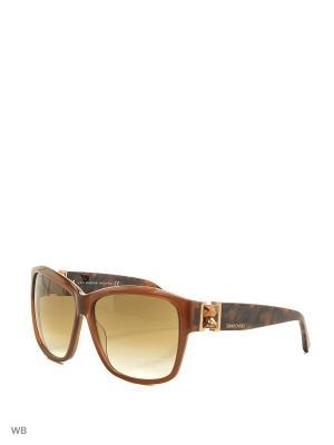 Солнцезащитные очки SK 0020 45F Swarovski. Цвет: коричневый