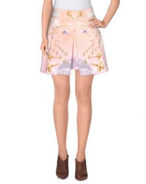 Мини-юбка MANISH ARORA. Цвет: светло-розовый