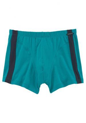 Боксеры, 2 штуки Schiesser. Цвет: темно-синий+зелено-синий