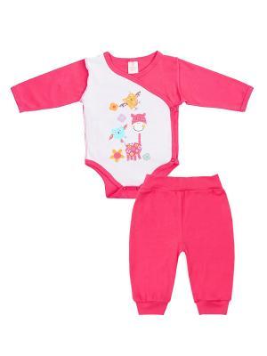 Комплект одежды: боди, штанишки Коллекция Весна КОТМАРКОТ. Цвет: малиновый