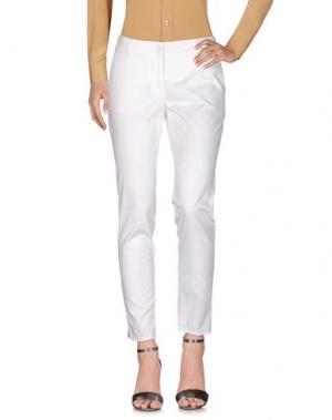 Повседневные брюки PESERICO SIGN. Цвет: белый