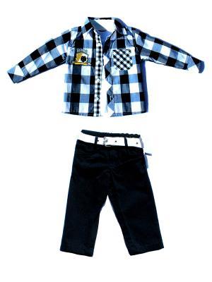 Комплект для мальчика La Pastel. Цвет: белый, синий, черный