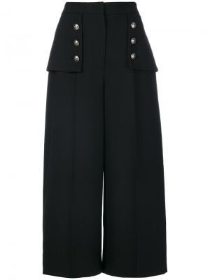 Укороченные брюки с завышенной талией Alexander McQueen. Цвет: чёрный