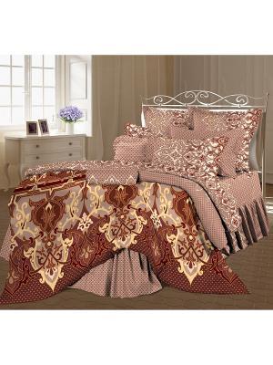 Постельное белье Romantic Collection. Цвет: коричневый, кремовый