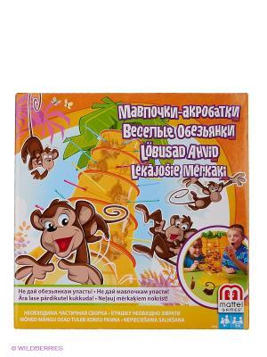 Игра настольная Обезьянка-акробат Mattel. Цвет: оранжевый