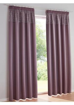 Штора Heine Home. Цвет: розово-сиреневый, серебристо-серый, темно-серый, цвет шампанского
