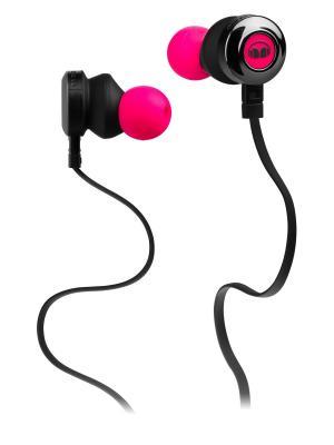 Наушники с микрофоном Monster Clarity HD In-Ear, Neon Pink. Цвет: фуксия
