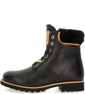 Утепленные кожаные ботинки Panama Jack. Цвет: черный