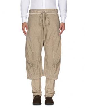 Повседневные брюки LUMEN ET UMBRA. Цвет: песочный