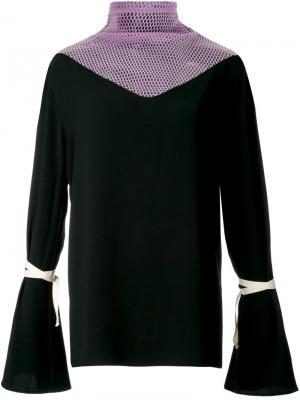 Блузка с расклешенными рукавами N Duo. Цвет: чёрный