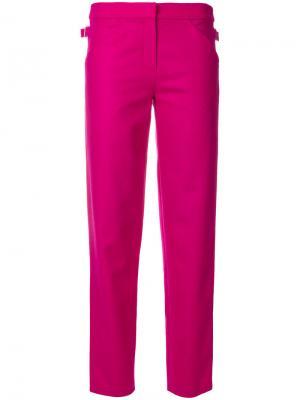 Прямые брюки Roseanna. Цвет: розовый и фиолетовый