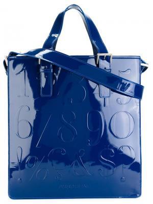 Плоская сумка-тоут Didot Assouline. Цвет: синий