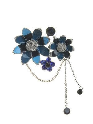 Брошь Infiniti. Цвет: синий, голубой, серебристый