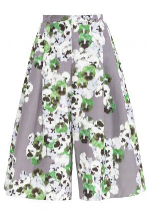 Брюки-кюлоты из шелка 160348 Lolita Shonidi. Цвет: разноцветный
