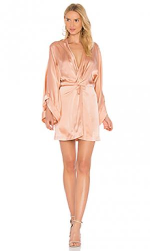 Шелковое платье eden Acler. Цвет: розовый