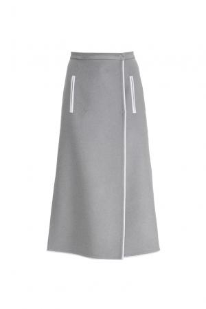 Двусторонняя кашемировая юбка 157963 Izeta. Цвет: серый