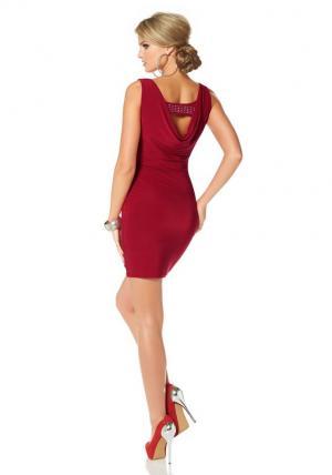 Платье из джерси Otto. Цвет: красный