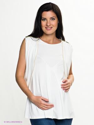Блузка Livaa. Цвет: молочный