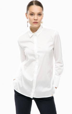 Белая рубашка свободного кроя Cinque. Цвет: белый
