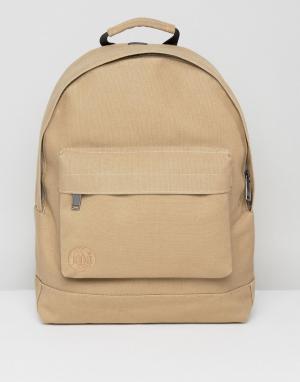 Mi-Pac Парусиновый рюкзак песочного цвета. Цвет: бежевый