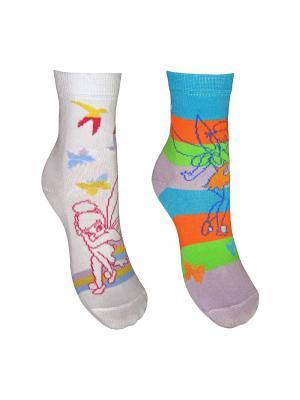 Носки 2 пары Master Socks. Цвет: белый, сиреневый