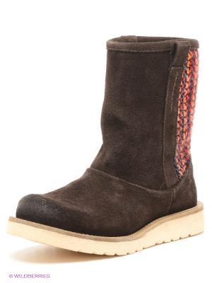Полусапожки Shoe the Bear. Цвет: темно-коричневый