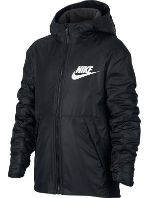 Куртка B NSW JKT HD FLEECE LINED Nike. Цвет: черный