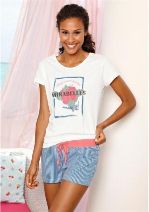 Пижама с шортами H.I.S.. Цвет: белый в полоску
