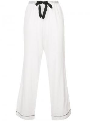 Chantal pyjama trousers Morgan Lane. Цвет: белый
