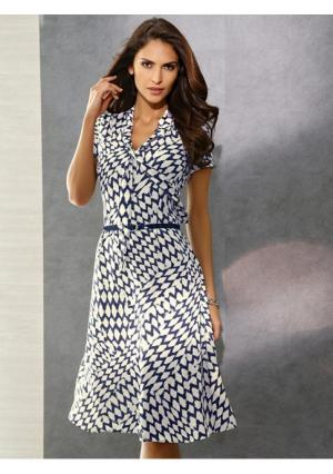 Платье Class International. Цвет: темно-синий/молочно-белый