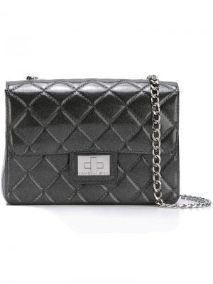 Стеганая сумка Designinverso. Цвет: серый