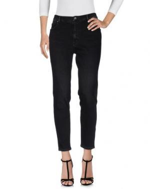 Джинсовые брюки OAKS. Цвет: черный